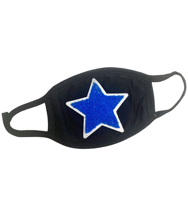 Blue Star Chenille Washable Reusable Face Mask
