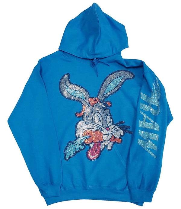 Bunny Bling Hoodie - Sapphire