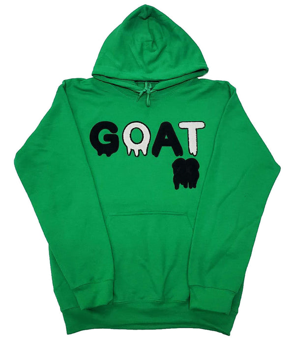 GOAT Black Chenille Hoodie - Green