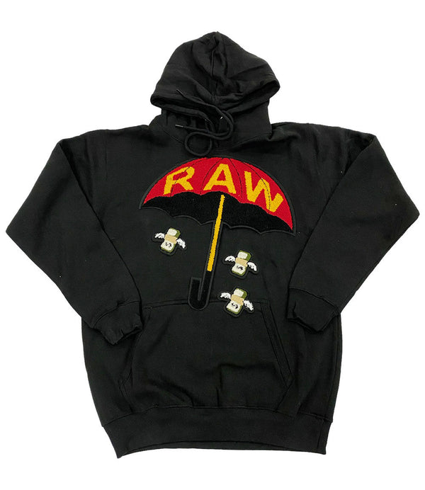 Make It Fly Chenille Hoodie - Black