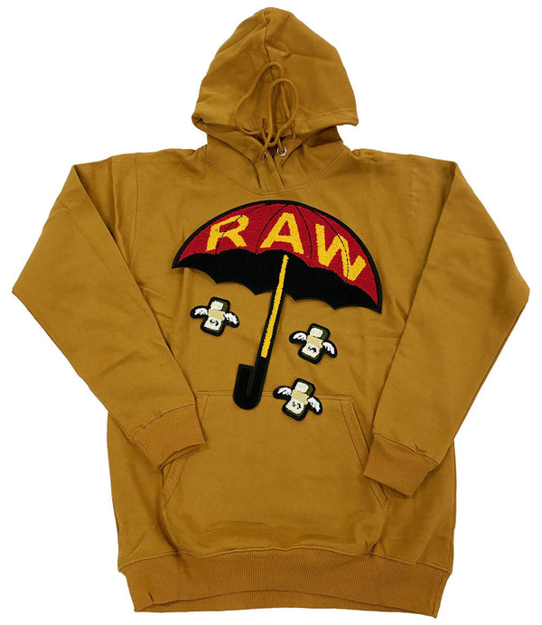 Make It Fly Chenille Hoodie - Gold