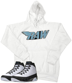 RAW Baby Blue Chenille Hoodie - White