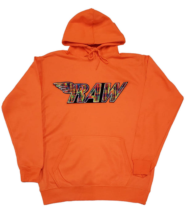 RAW Bel Air Chenille Hoodie - Neon Orange