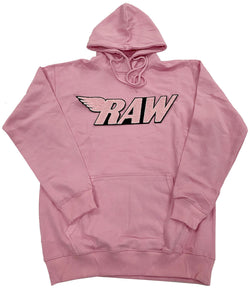 RAW Pink Chenille Hoodie - Pink