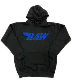 RAW PU Royal Hoodie - Black