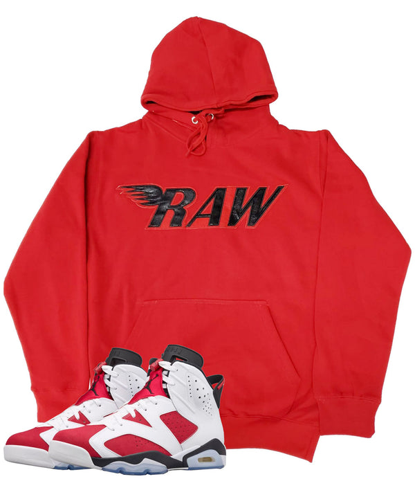 RAW PU Red Hoodie - Red