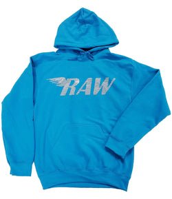 RAW Silver Bling Hoodie - Sapphire