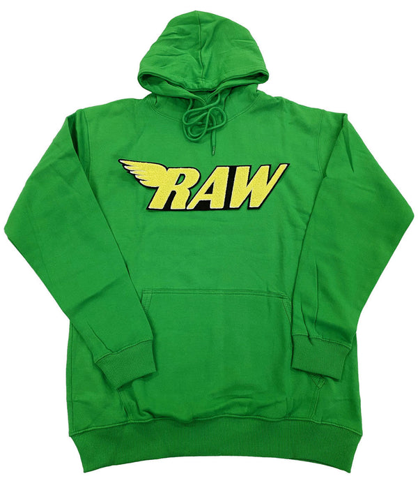 RAW Yellow Chenille Hoodie - Green