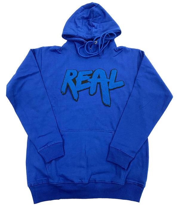 Real Royal Chenille Hoodie - Royal