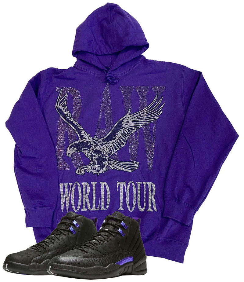 RAW World Tour Purple Bling Hoodie - Purple