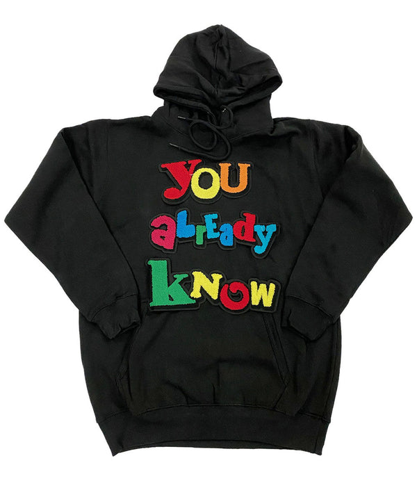 You already know Chenille Hoodie - Black