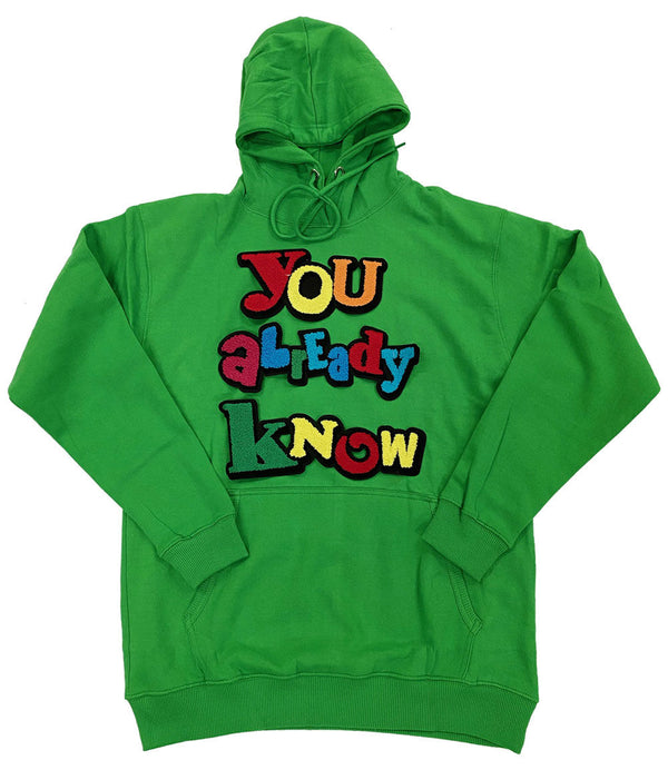 You already know Chenille Hoodie - Green