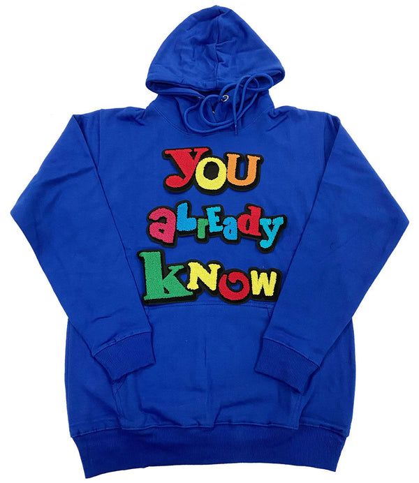 You already know Chenille Hoodie - Royal