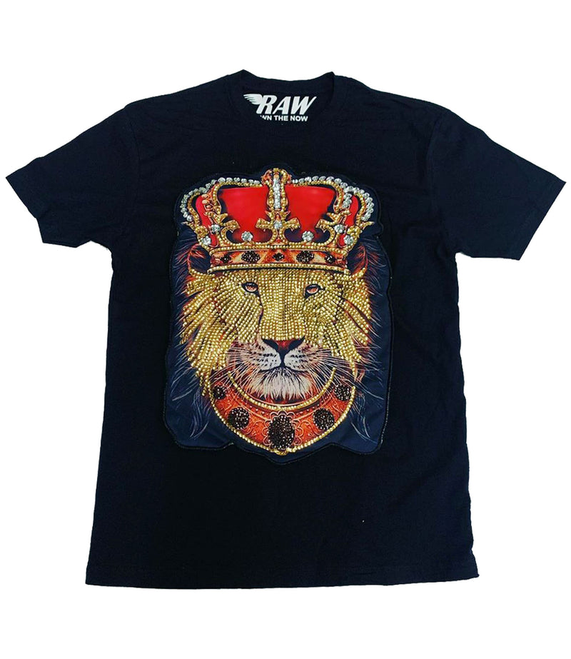 Lion Crown Hand Made Sequin Crew Neck