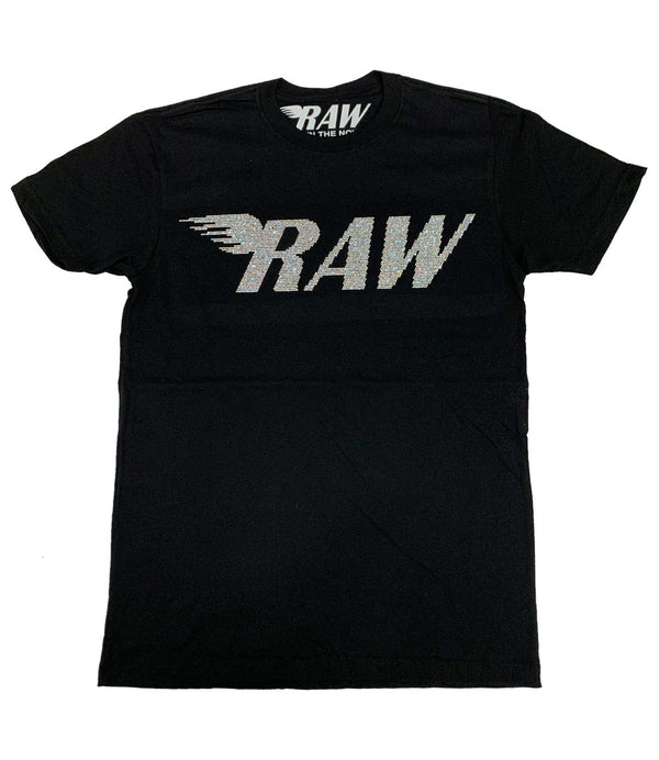 RAW AB Bling Crew Neck - Black