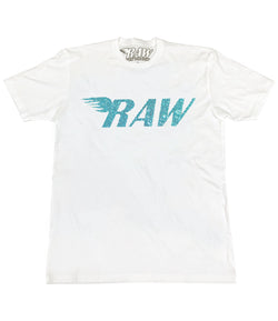 RAW Aqua Bling Crew Neck