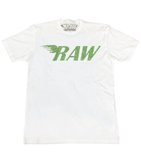 RAW Light Green Bling Crew Neck