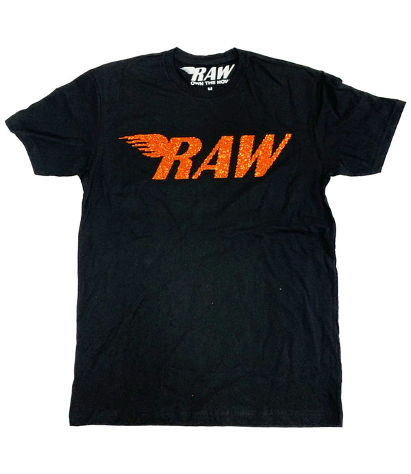 RAW Orange Bling Crew Neck