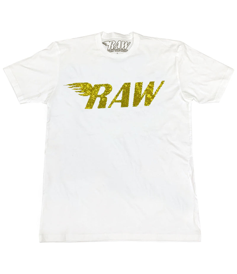 RAW Yellow Bling Crew Neck