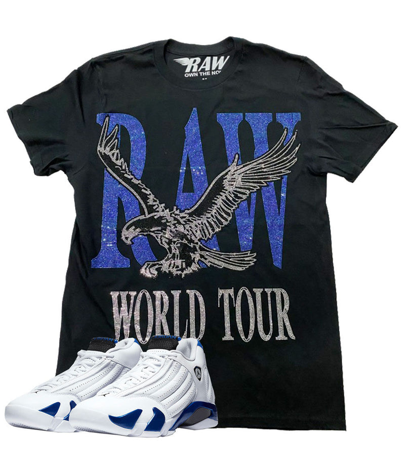 RAW World Tour Blue Bling Crew Neck - Black