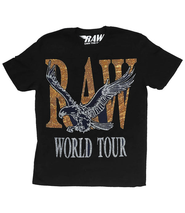 RAW World Tour Gold Bling Crew Neck - Black