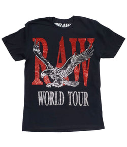 RAW World Tour Red Bling Crew Neck - Black