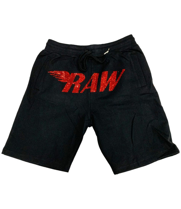 RAW Red Bling Cotton Shorts
