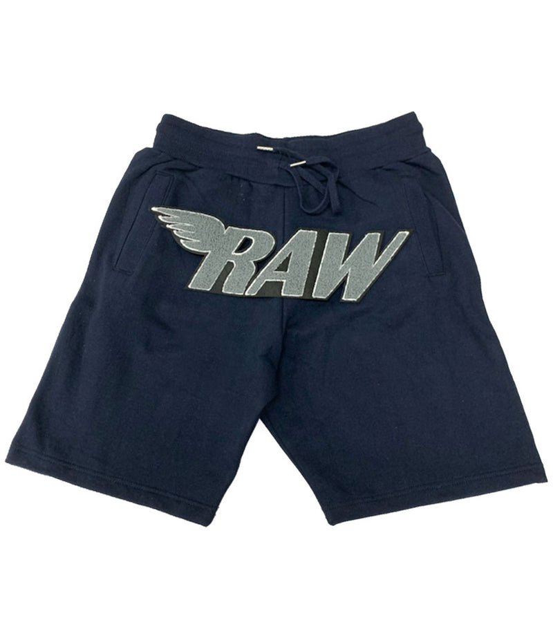 RAW Grey Chenille Cotton Shorts