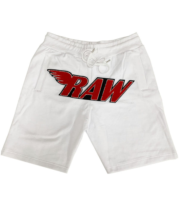 RAW Red Chenille Cotton Shorts