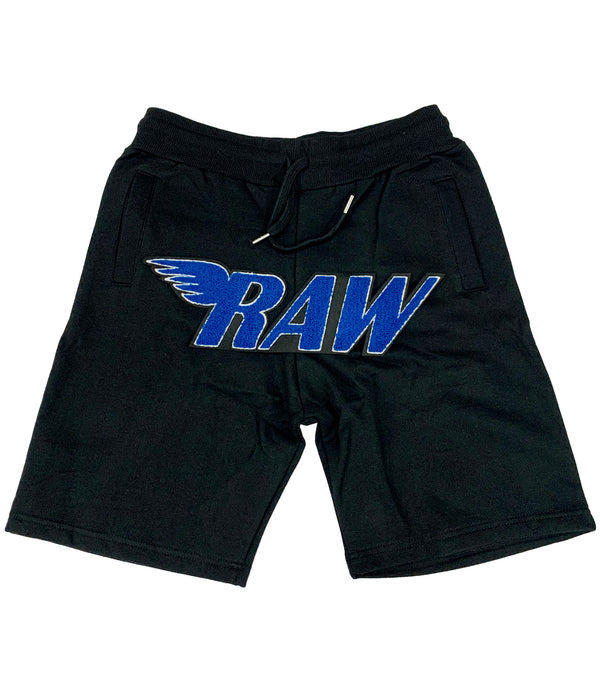 RAW Royal Chenille Cotton Shorts - Black