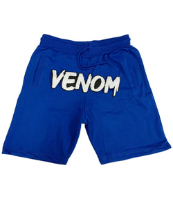 Venom Chenille Cotton Shorts - Royal