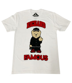 Rich and Famous Chenille Patch Crew Neck