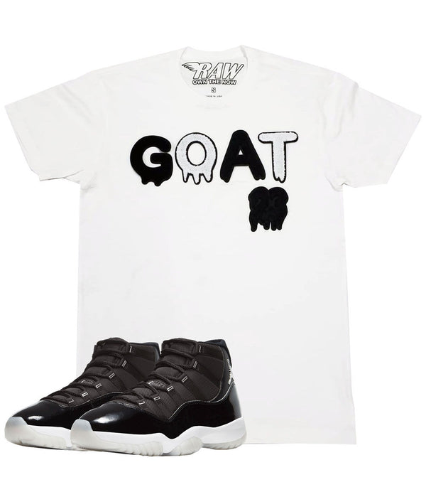 GOAT Black Chenille Crew Neck - White