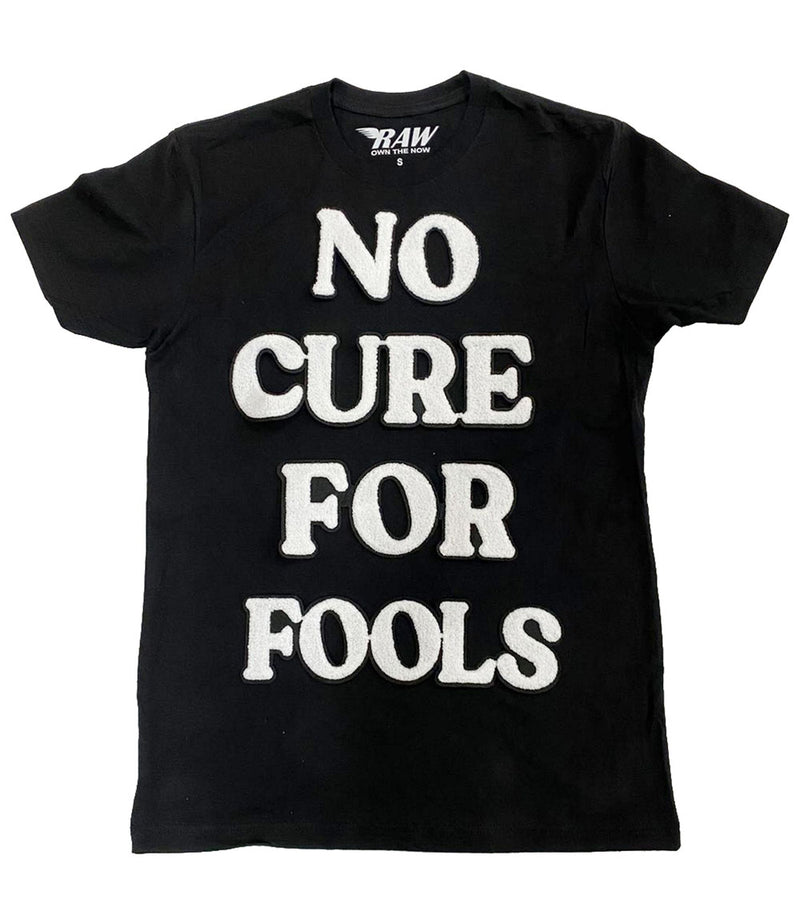 No Cure For Fools Chenille Crew Neck - Black