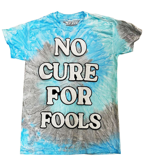 No Cure For Fools Chenille Crew Neck - Tie Dye Sky