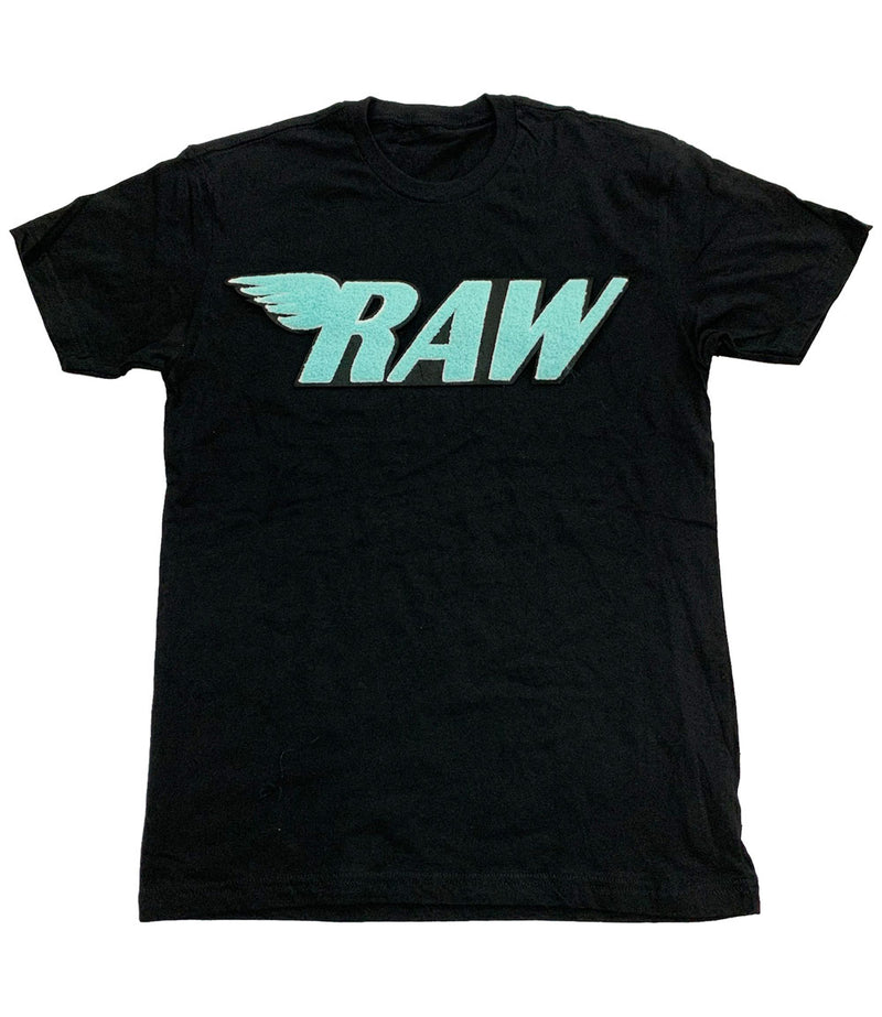 RAW Aqua Chenille Crew Neck