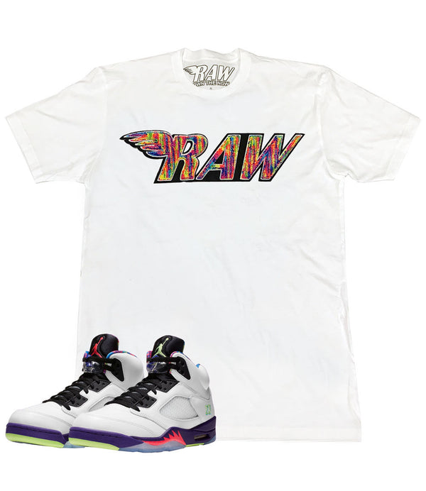 RAW Bel Air Chenille Crew Neck - White