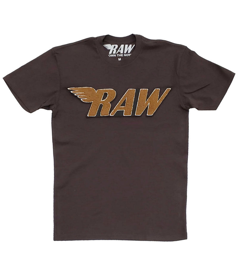 RAW Brown Chenille Crew Neck - Chocolate