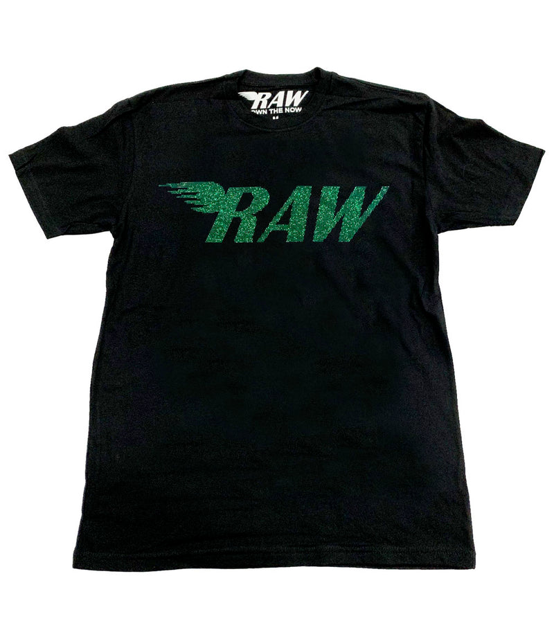 RAW Emerald Bling Crew Neck