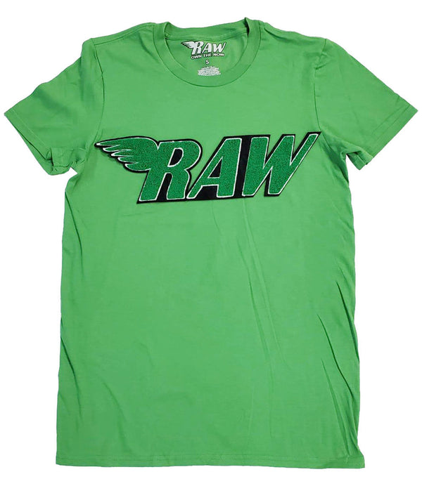 RAW Green Chenille Crew Neck - Green