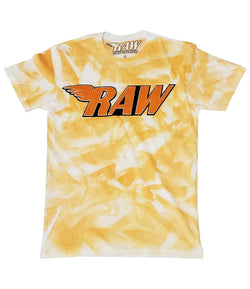 RAW Orange Chenille Crew Neck - Dye Orange