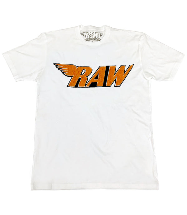 RAW Orange Chenille Crew Neck