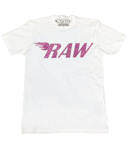 RAW Pink Bling Crew Neck