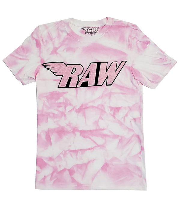 RAW Pink Chenille Crew Neck - Dye Pink