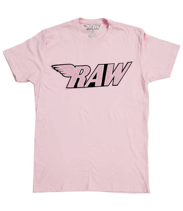 RAW Pink Chenille Crew Neck - Pink