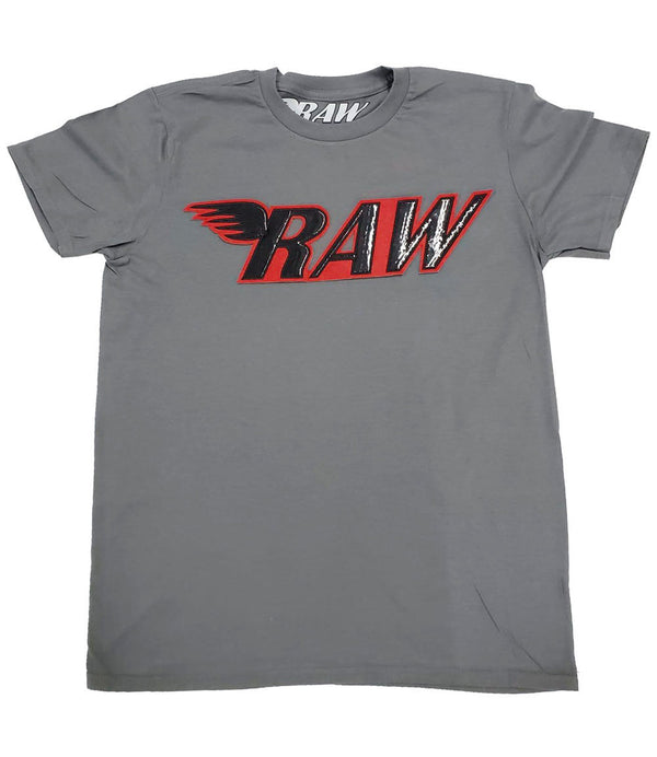 RAW PU Red Crew Neck - Heavy Metal