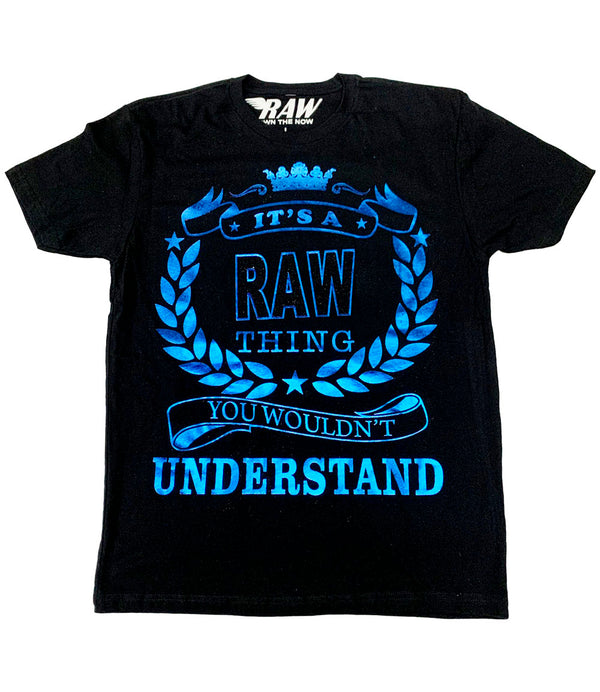 RAW Thing Royal Foil Black Bling Crew Neck