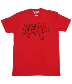 Real Red Chenille Crew Neck - Red
