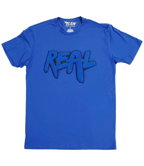 REAL Royal Chenille Crew Neck - Royal