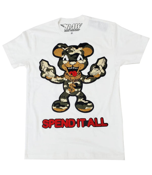 Spend It All Chenille Crew Neck - White